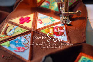 How to Sew: Girl Scout & Cub Scout patches
