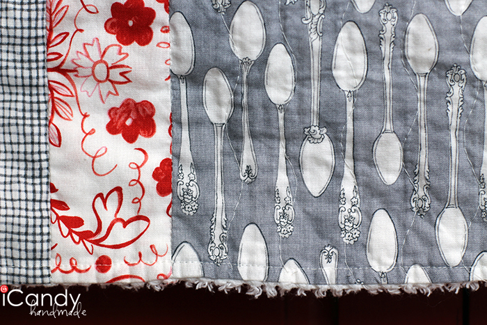 Quilted Kitchen Towel Close Up