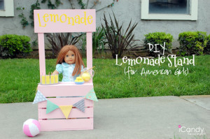 Lemonade Stand for Am. Girl Dolls Tutorial