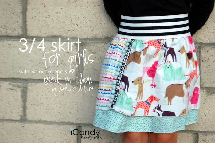 Easy 3/4 Skirt for Girls
