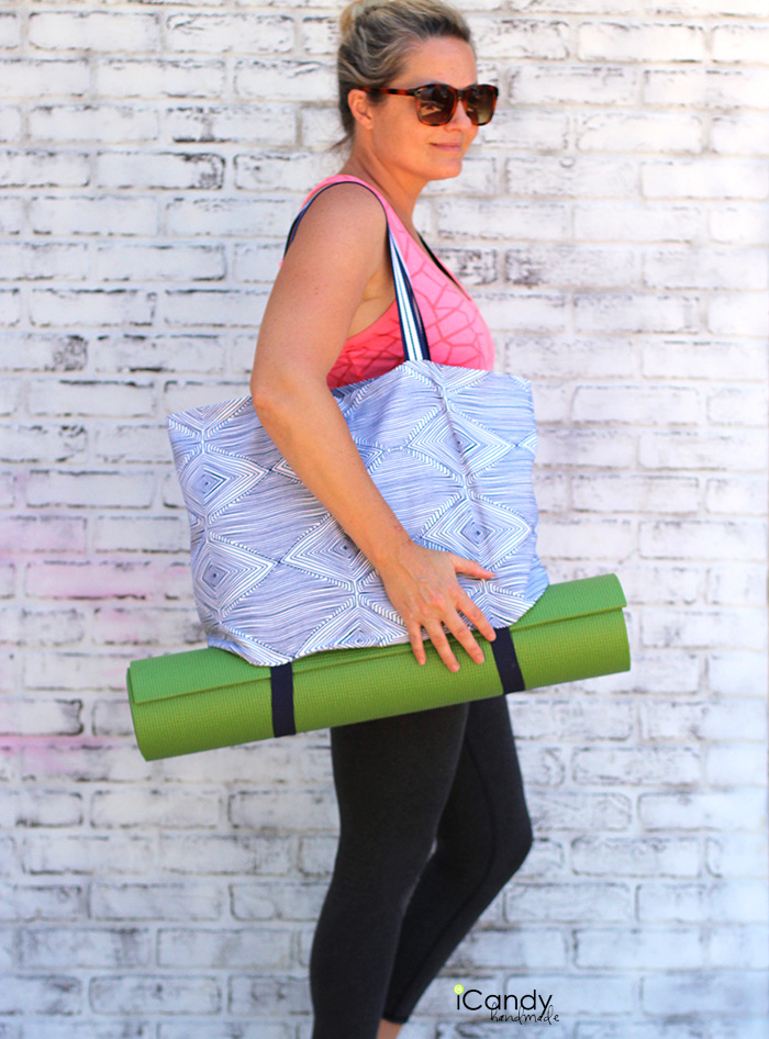 iCandy handmade yoga tote tutorial 2