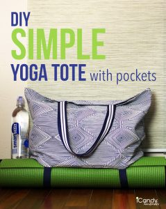 DIY Simple Yoga Tote