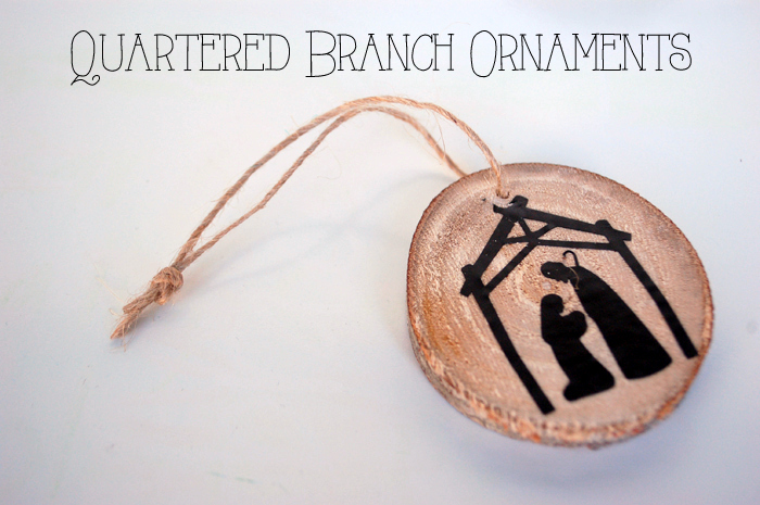 Quartered Branch Ornaments